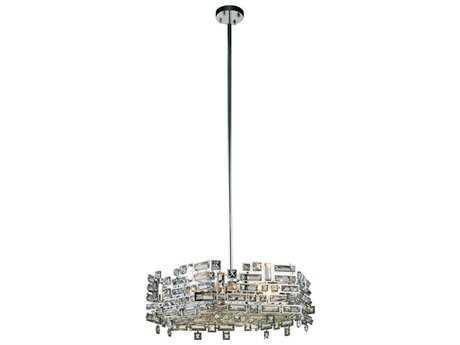 Elegant Lighting Picasso Chrome Six-Light 24'' Wide Pendant Light