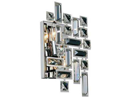 Elegant Lighting Picasso Chrome Two-Light Wall Sconce EG2100W12CRC