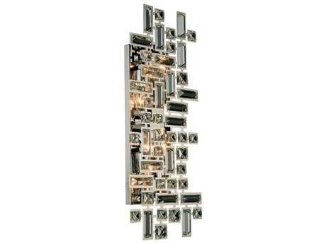 Elegant Lighting Picasso Chrome Four-Light Wall Sconce EG2100W22CRC