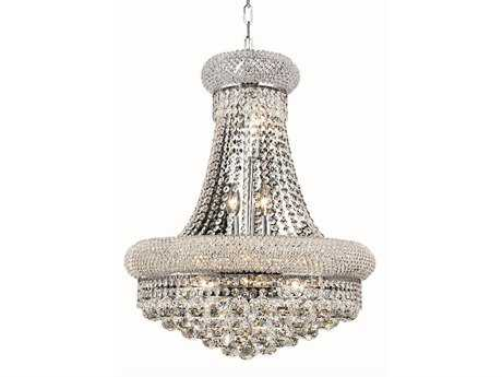 Elegant Lighting Primo Royal Cut Chrome & Crystal 14-Light 20'' Wide Chandelier EG1800D20C