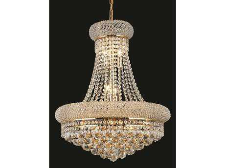 Elegant Lighting Primo Royal Cut Gold & Crystal 14-Light 20'' Wide Chandelier EG1800D20G