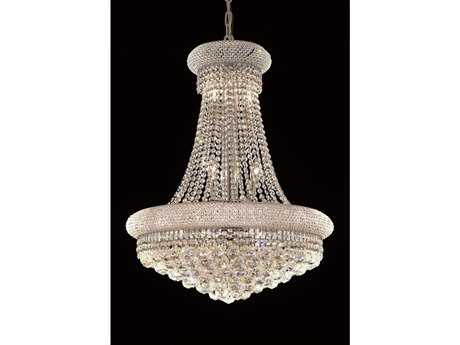 Elegant Lighting Primo Royal Cut Chrome & Crystal 14-Light 24'' Wide Chandelier EG1800D24C