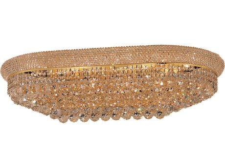 Elegant Lighting Primo Royal Cut Gold & Crystal 18-Light 20'' Wide Flush Mount Light EG1800F36SG
