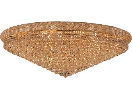 Elegant Lighting Primo Royal Cut Gold & Crystal 33-Light 48'' Wide Flush Mount Light EG1800F48G