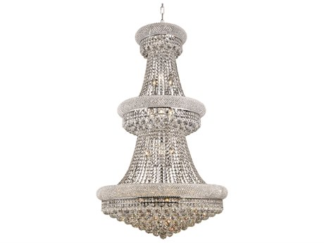 Elegant Lighting Primo Royal Cut Chrome & Crystal 32-Light 30'' Wide Grand Chandelier EG1800G30C