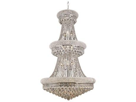 Elegant Lighting Primo Royal Cut Chrome & Crystal 32-Light 30'' Wide Grand Chandelier EG1800G30C