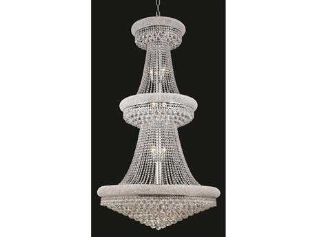 Elegant Lighting Primo Royal Cut Chrome & Crystal 32-Light 36'' Wide Grand Chandelier EG1800G36C