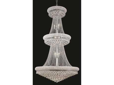 Elegant Lighting Primo Royal Cut Chrome & Crystal 32-Light 36'' Wide Grand Chandelier EG1800G36C