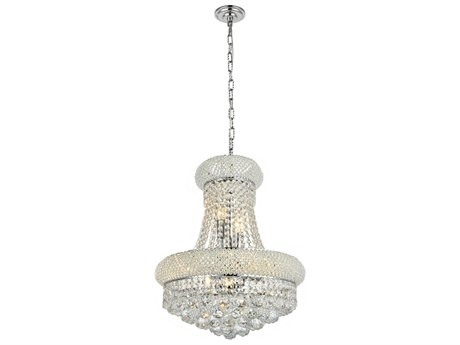 Elegant Lighting Primo Royal Cut Chrome & Crystal Eight-Light 16'' Wide Mini Chandelier EG1800D16C
