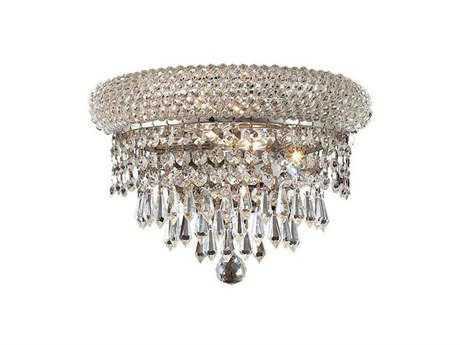 Elegant Lighting Primo Royal Cut Chrome & Crystal Two-Light Wall Sconce EG1802W12C