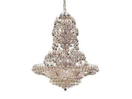 Elegant Lighting Sirius Royal Cut Chrome & Crystal 33-Light 36'' Wide Grand Chandelier EG2908G36C