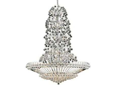 Elegant Lighting Sirius Royal Cut Chrome & Crystal 43-Light 48'' Wide Grand Chandelier EG2908G48C
