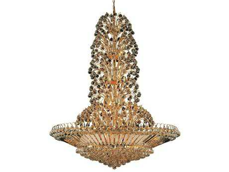 Elegant Lighting Sirius Royal Cut Gold & Crystal 43-Light 48'' Wide Grand Chandelier EG2908G48G