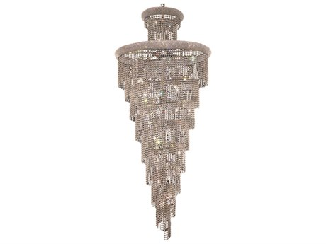 Elegant Lighting Spiral Royal Cut Chrome & Crystal 32-Light 36'' Wide Grand Chandelier EG1800SR36C