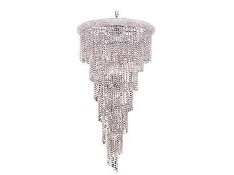 Elegant Lighting Spiral Royal Cut Chrome & Crystal 22-Light 30'' Wide Grand Chandelier EG1801SR30C