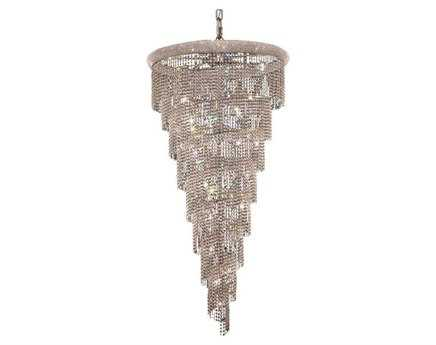 Elegant Lighting Spiral Royal Cut Chrome & Crystal 26-Light 36'' Wide Grand Chandelier EG1801SR36C
