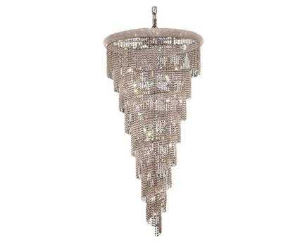Elegant Lighting Spiral Royal Cut Chrome & Crystal 26-Light 36'' Wide Grand Chandelier EG1801SR36C
