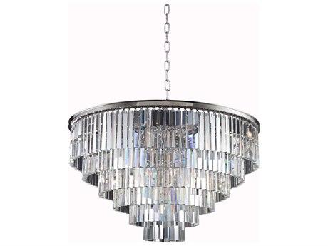 Elegant Lighting Sydney Polished Nickel & Clear Crystal 33-Lights 44'' Wide Pendant Light EG1201D44PN