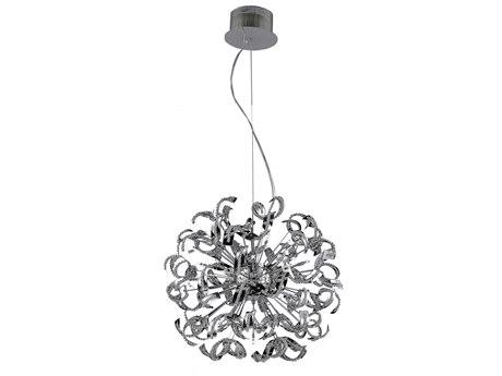 Elegant Lighting Tiffany Elegant Cut Chrome & Crystal 25-Light 27.5'' Wide Pendant EG2068D27C