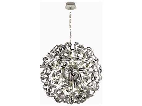 Elegant Lighting Tiffany Chrome & Clear Crystal 45-Lights 54'' Wide Pendant Light EG2068G54CRC