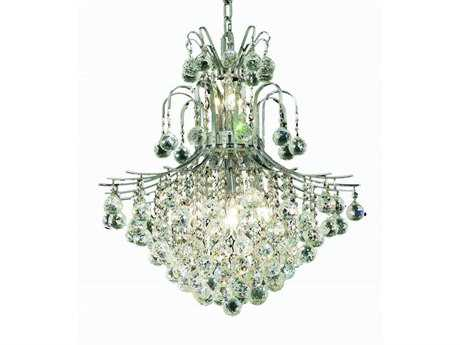 Elegant Lighting Toureg Royal Cut Chrome & Crystal 11-Light 22'' Wide Chandelier EG8002D22C