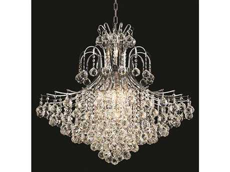 Elegant Lighting Toureg Royal Cut Chrome & Crystal 15-Light 31'' Wide Chandelier EG8005G31C