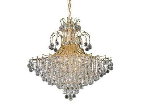 Elegant Lighting Toureg Royal Cut Gold & Crystal 15-Light 31'' Wide Chandelier EG8005G31G