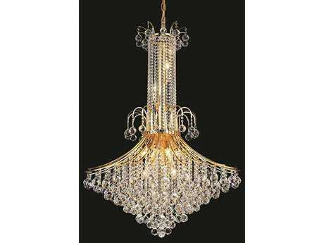 Elegant Lighting Toureg Royal Cut Gold & Crystal 16-Light 35'' Wide Grand Chandelier EG8006G35G