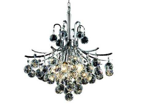 Elegant Lighting Toureg Royal Cut Chrome & Crystal Six-Light 16'' Wide Mini Chandelier EG8000D16C