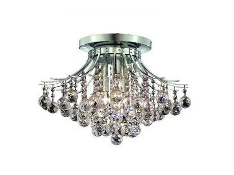 Elegant Lighting Toureg Royal Cut Chrome & Crystal Six-Light 19'' Wide Semi-Flush Mount Light EG8000F19C