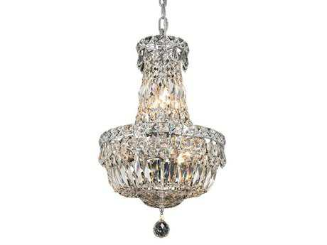 Elegant Lighting Tranquil Royal Cut Chrome & Crystal Six-Light 12'' Wide Mini Chandelier EG2528D12C