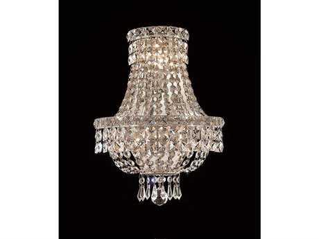 Elegant Lighting Tranquil Royal Cut Chrome & Crystal Three-Light Wall Sconce EG2528W12C