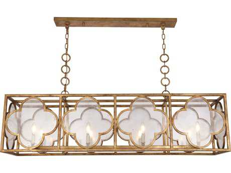 Elegant Lighting Trinity Golden Iron Eight-Light 54'' Wide Island Light EG1526G54GIAG