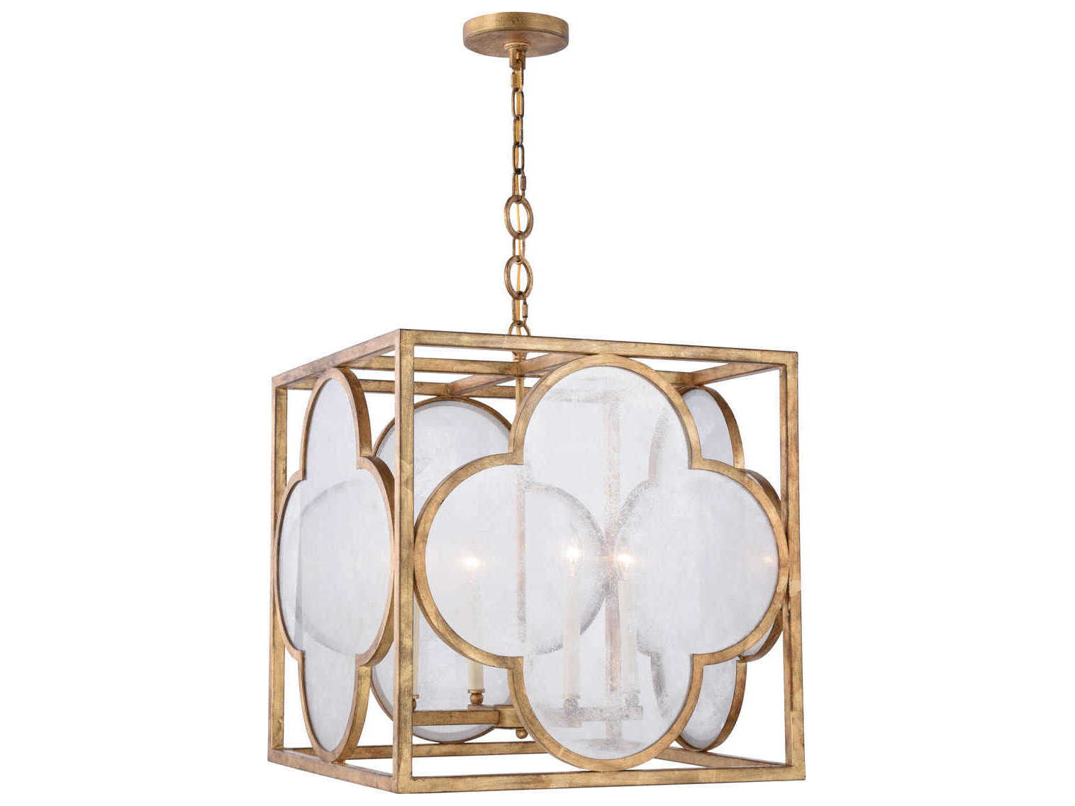 Elegant Lighting Trinity Golden Iron Four Light 22 Wide