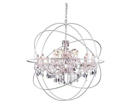 Elegant Lighting Urban Royal Cut Polished Nickel & Crystal 18-Light 44'' Wide Chandelier EG1130G43PN