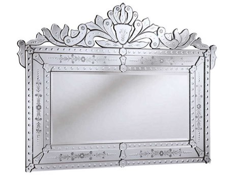 Elegant Lighting Venetian 59''W x 45''H Clear Wall Mirror EGMR2004C