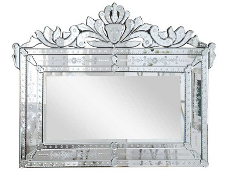 Elegant Lighting Venetian 42.5''W x 32''H Clear Wall Mirror EGMR2005C