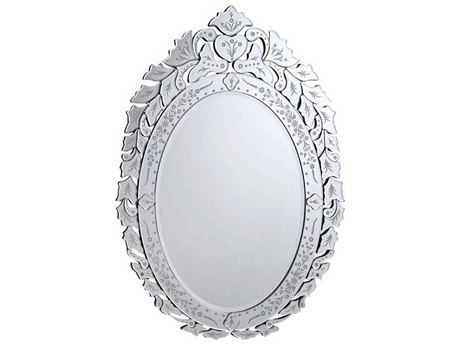 Elegant Lighting Venetian 33''W x 44.5''H Clear Wall Mirror