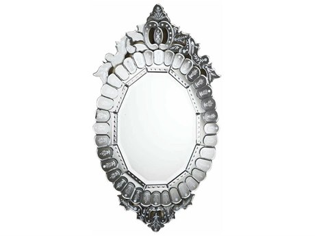 Elegant Lighting Venetian 22''W x 39.5''H Clear Wall Mirror