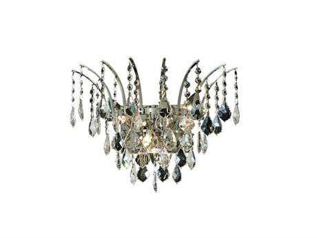 Elegant Lighting Victoria Royal Cut Chrome & Crystal Three-Light Wall Sconce EG8033W16C