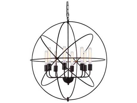 Elegant Lighting Vienna Dark Bronze Eight-Lights 32'' Wide Chandelier EG1453D32DB