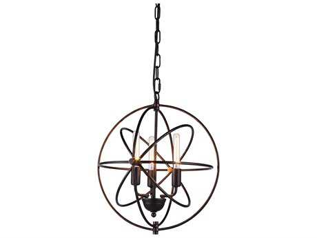 Elegant Lighting Vienna Dark Bronze Three-Lights 17'' Wide Mini Chandelier EG1453D17DB