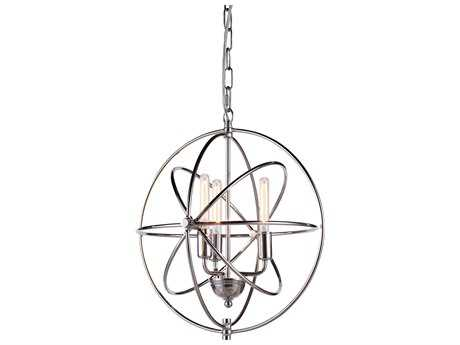 Elegant Lighting Vienna Polished Nickel Three-Lights 17'' Wide Mini Chandelier EG1453D17PN