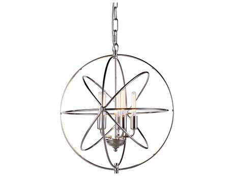 Elegant Lighting Vienna Polished Nickel Five-Lights 20'' Wide Mini Chandelier EG1453D20PN