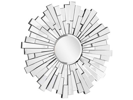Elegant Lighting Modern 47.5'' Round Clear Wall Mirror EGMR3005C