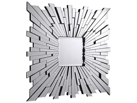 Elegant Lighting Modern 47'' Square Clear Wall Mirror EGMR3006C
