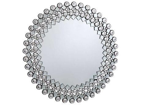 Elegant Lighting Modern 39.5'' Round Clear Crystal Wall Mirror EGMR3060