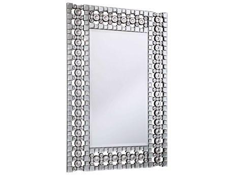 Elegant Lighting Modern 31''W x 46''H Clear Crystal Wall Mirror EGMR3061