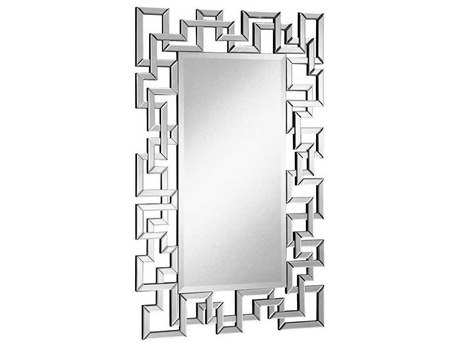Elegant Lighting Modern Clear 30''W x 48''H Rectangular Wall Mirror EGMR4006