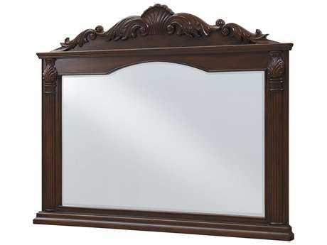 Elegant Lighting Windsor Teak 50''W x 40''H Landscape Dresser Mirror